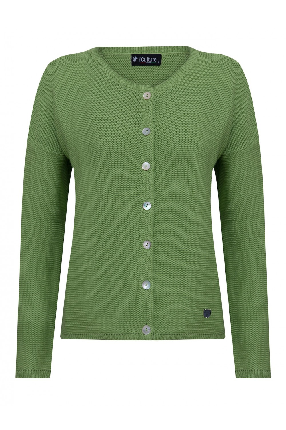 Women's Cardigan Button Crew Neck Pistachio