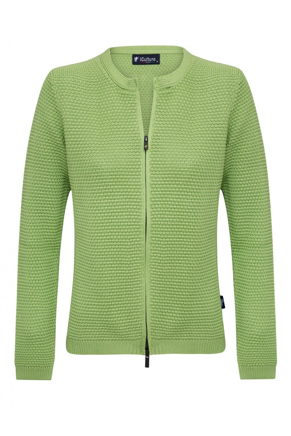 Women's Cardigan Zip Crew Neck Pistachio