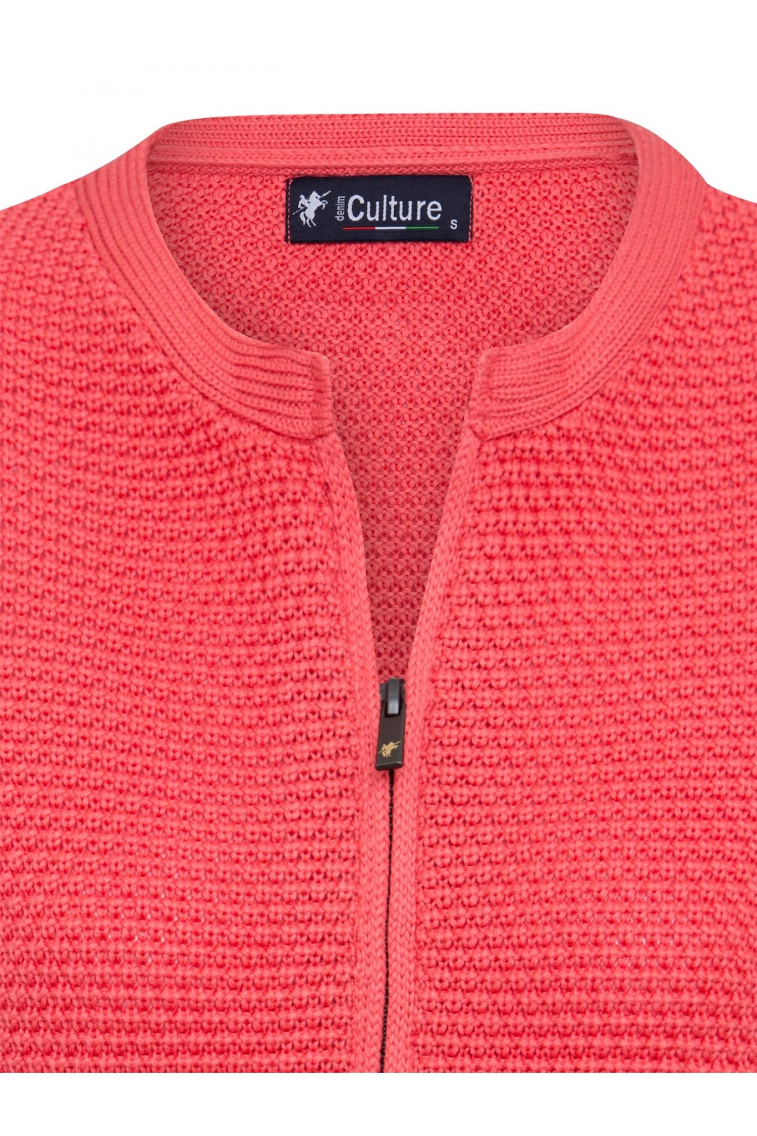 Einzelhandelspreise Mode-Design erstklassiges echtes Damen Strickjacke mit Reißverschluss Rundhals KORALLE ...