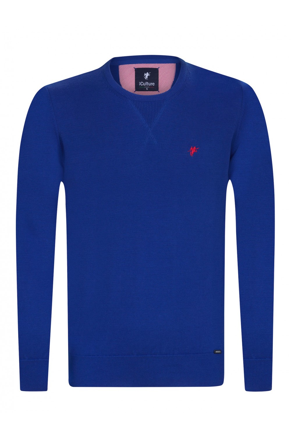 Men's Pullover  Crew Neck Royal Cotton