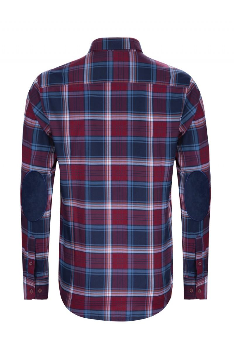Herren Hemden Button Down Langarm ROT