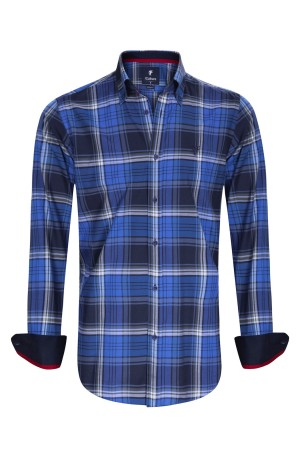Herren Hemden Button Down Langarm ROYAL