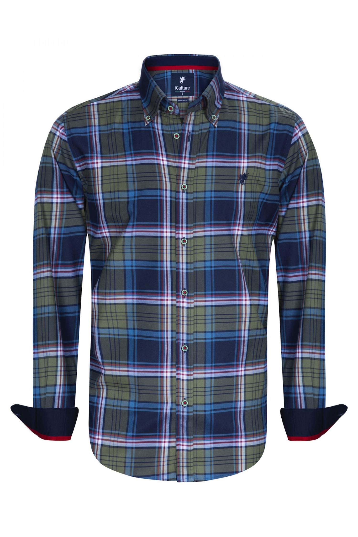 best service f8fbd 8fdd3 Herren Hemden Button Down Langarm KHAKI - Denim Culture