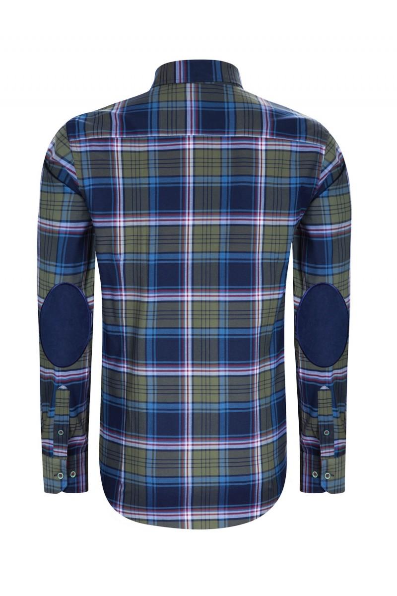 Herren Hemden Button Down Langarm KHAKI