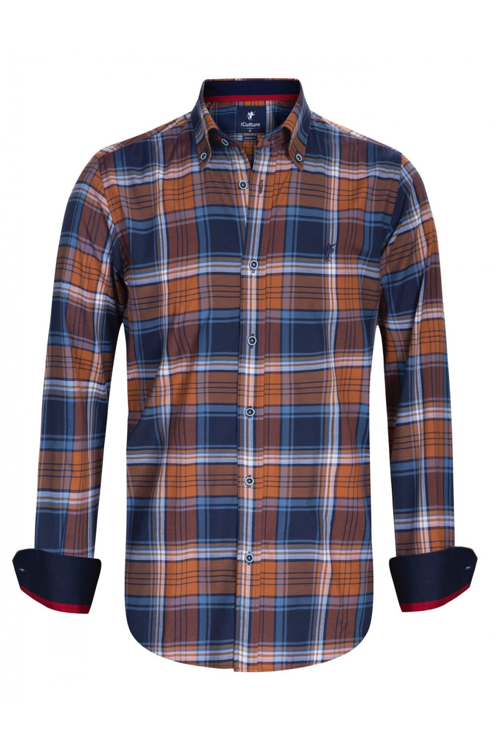 Herren Hemden Button Down Langarm ROST