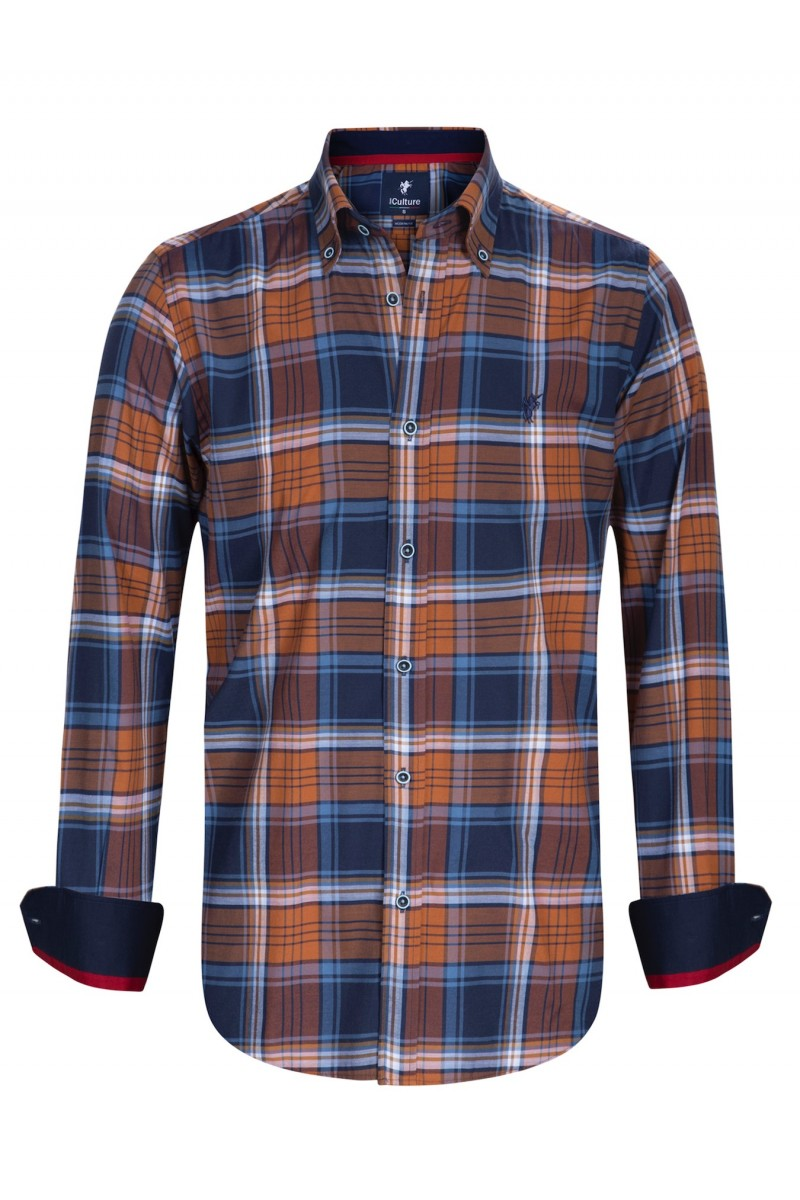 Men's Shirt Button Down ROST Checked