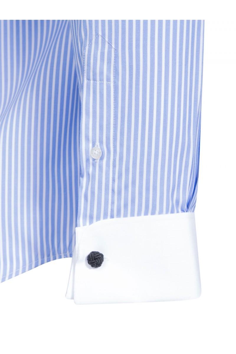 Herren Hemden Kentkragen Langarm BLAU