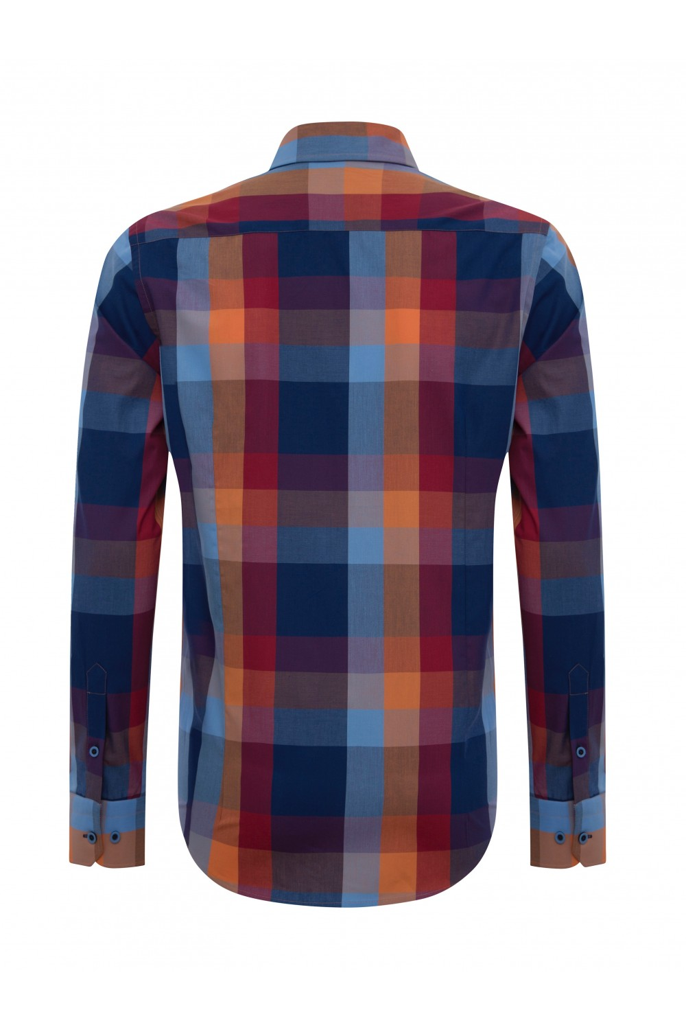 Men Shirt mit Kariert Kentkragen ROT