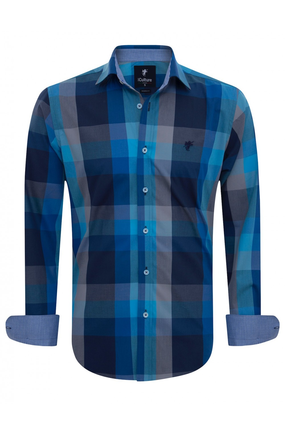 Men Shirt mit Kariert Kentkragen ROYAL