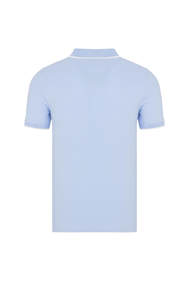 Baumwoll Poloshirt Kurzarm BLAU für Herren