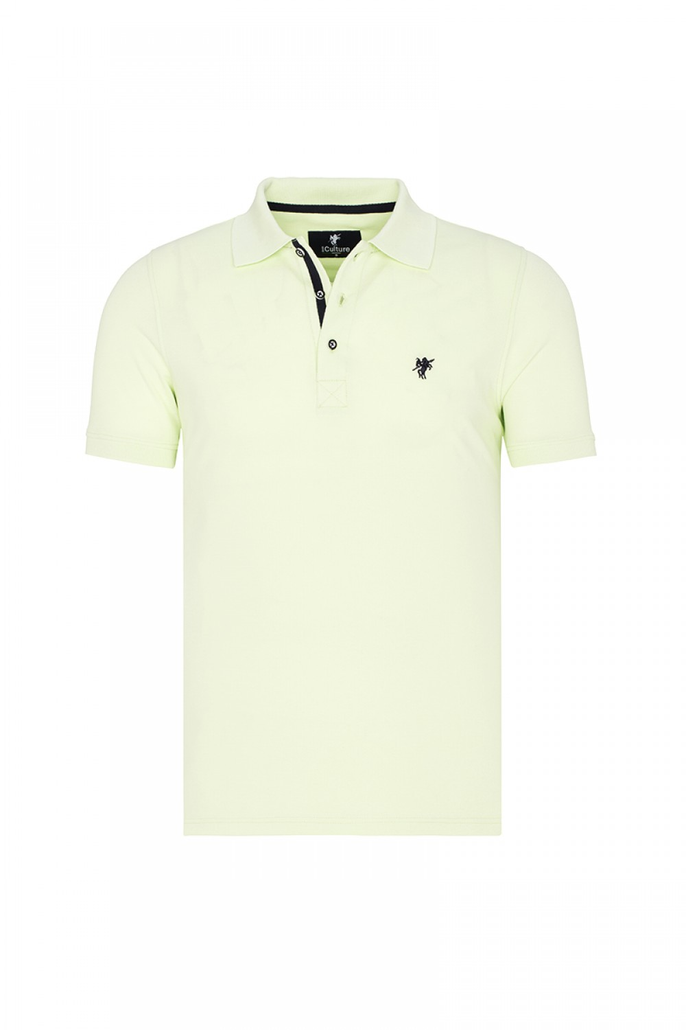 Men's Poloshirt Knitted Pistachio Cotton