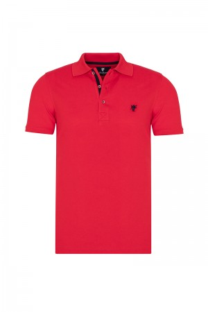 Herren Polo shirt mit hemd kiagen Fb. rot
