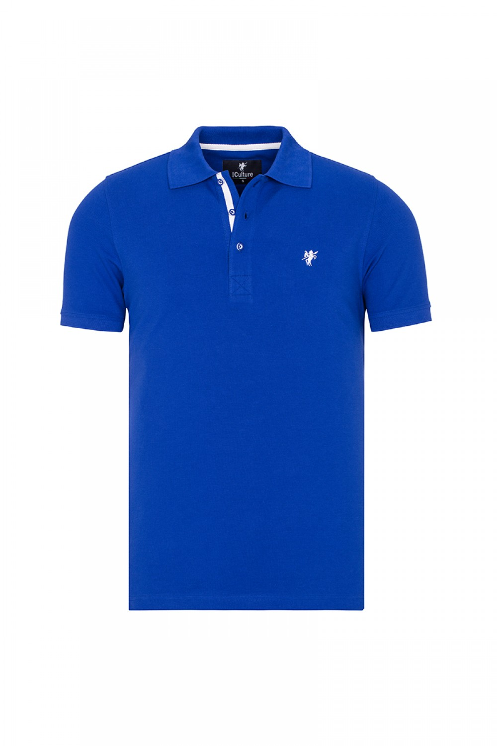 Men's Poloshirt Knitted Royal Cotton