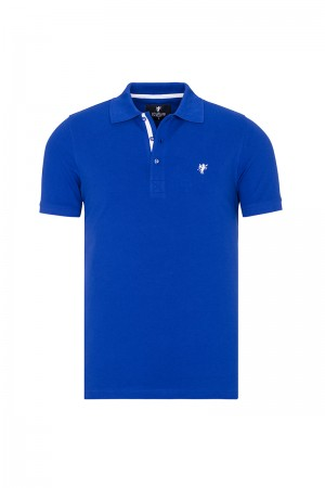 Herren Polo shirt mit hemd kiagen Fb. royal