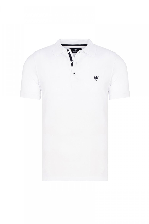 Baumwoll Poloshirt Kurzarm WEISS für Herren