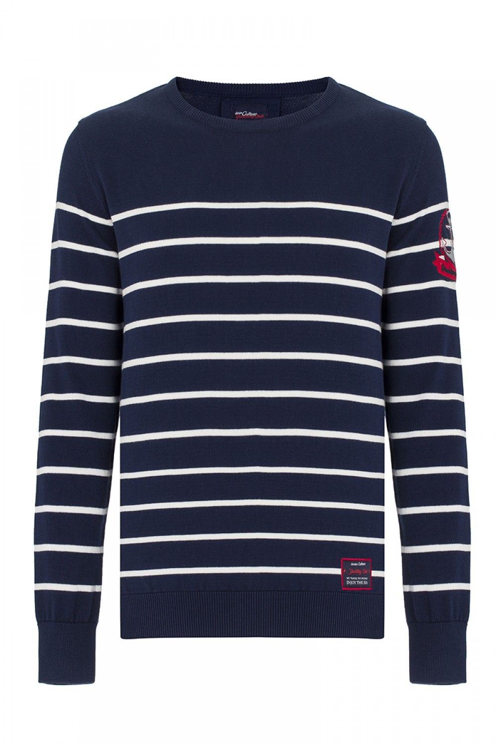 Men's Pullover  Crew Neck Navy Cotton