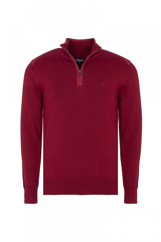 Baumwoll Pullover Stehkragen BORDOAUX für Herren