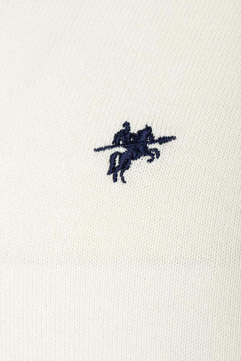 Baumwoll Pullover V-Ausschnitt ECRU für Herren