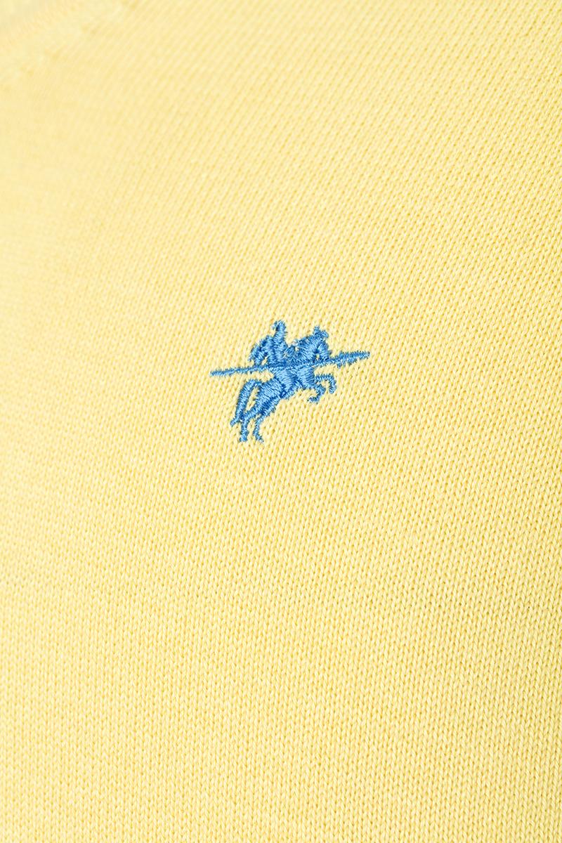 Baumwoll Pullover V-Ausschnitt GELB für Herren