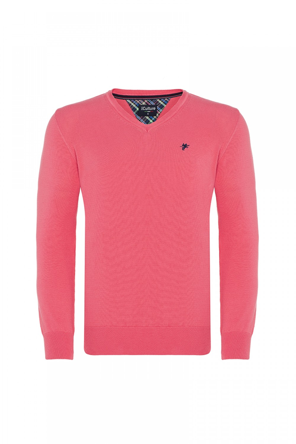 Men's Pullover  V-neck Coral Cotton