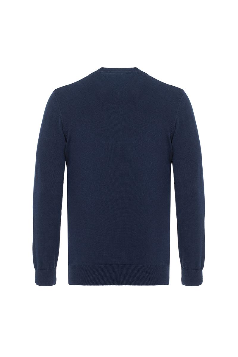Baumwoll Pullover V-Ausschnitt NAVY für Herren