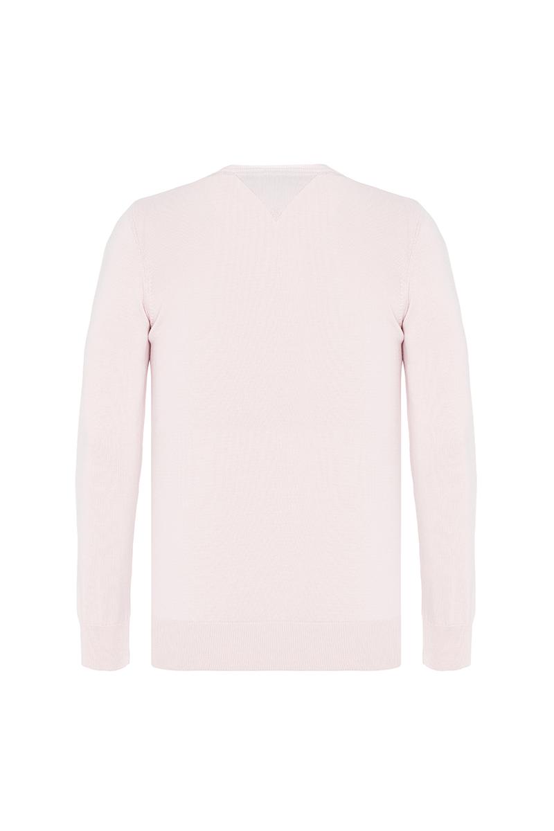 Baumwoll Pullover V-Ausschnitt PUDER für Herren