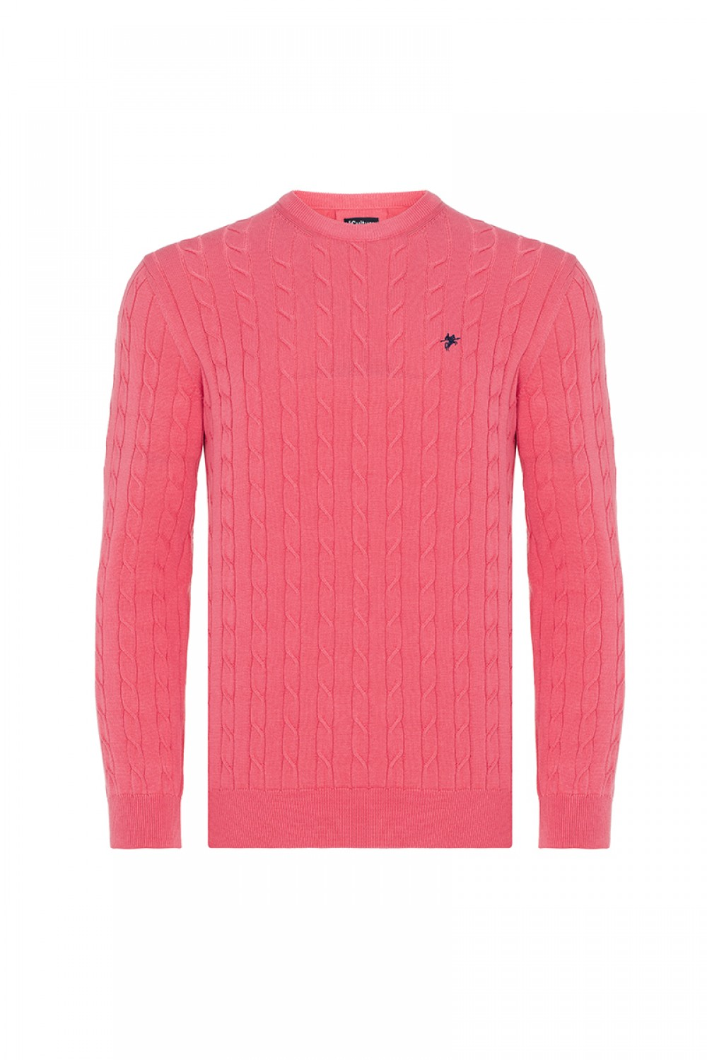 Men's Pullover  Crew Neck Coral Cotton