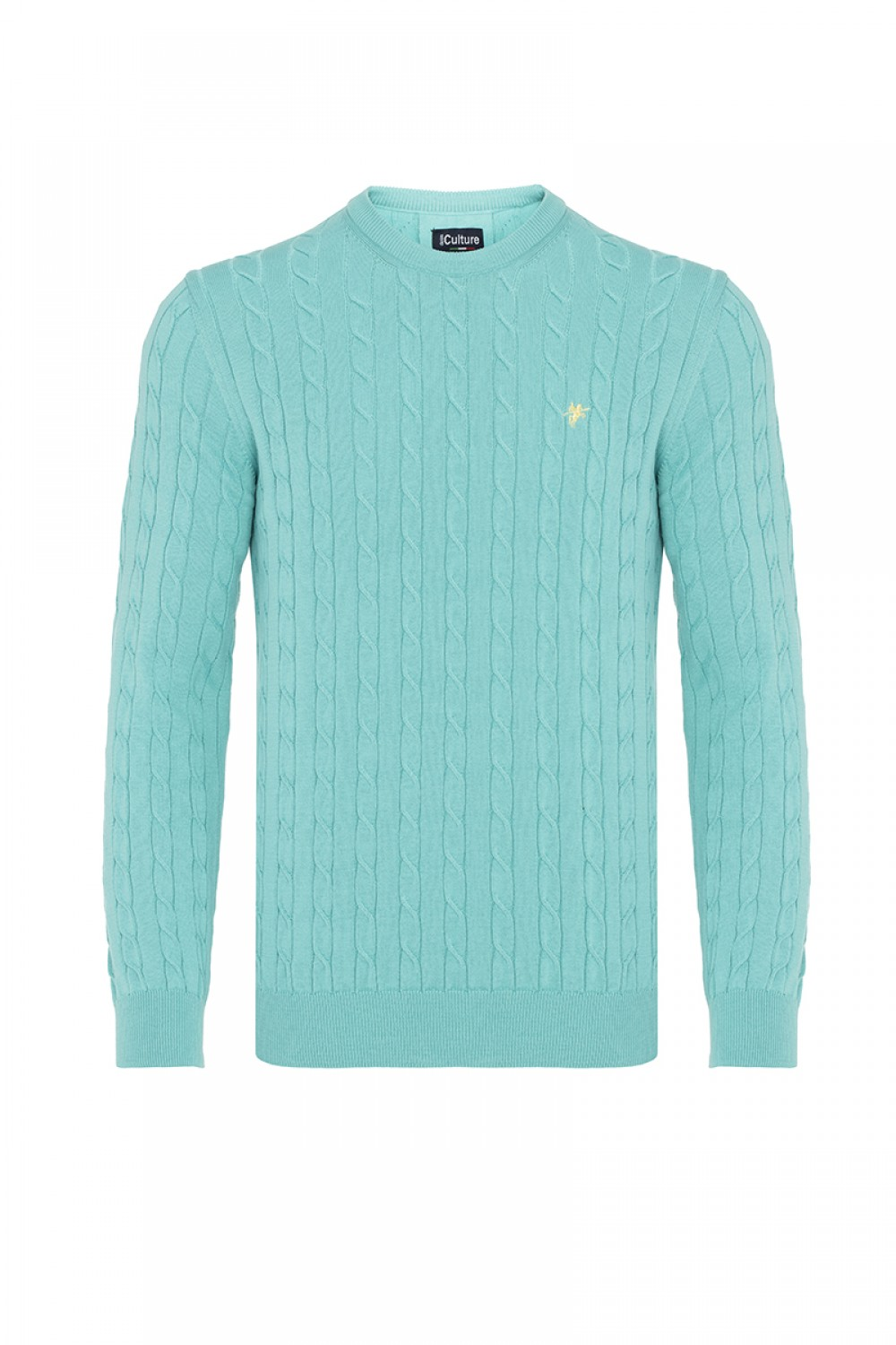 Men's Pullover  Crew Neck Mint Cotton