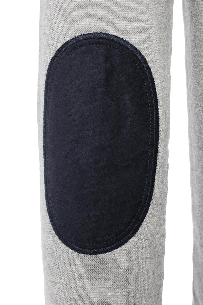 Baumwoll Pullover Stehkragen GRAU MEL. für Herren