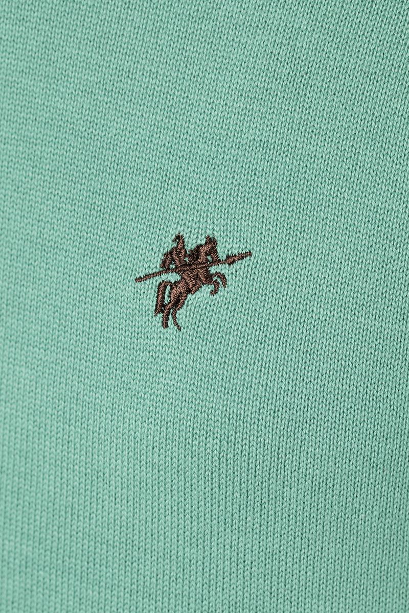 Baumwoll Pullover Stehkragen PISTAZIE für Herren