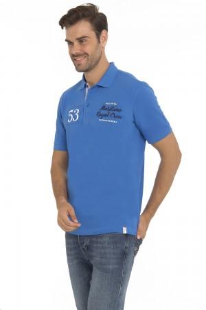 Men's Poloshirt Pique Royal Cotton