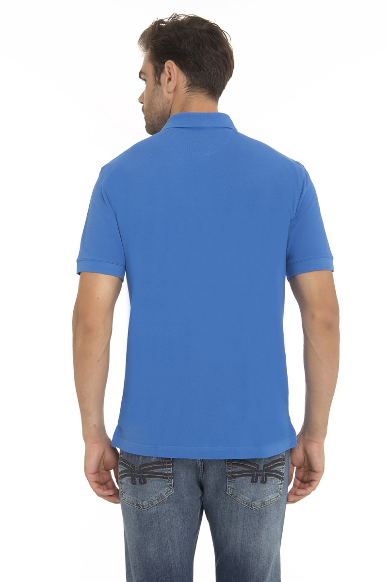 Men's Poloshirt Pique Royal Cotton