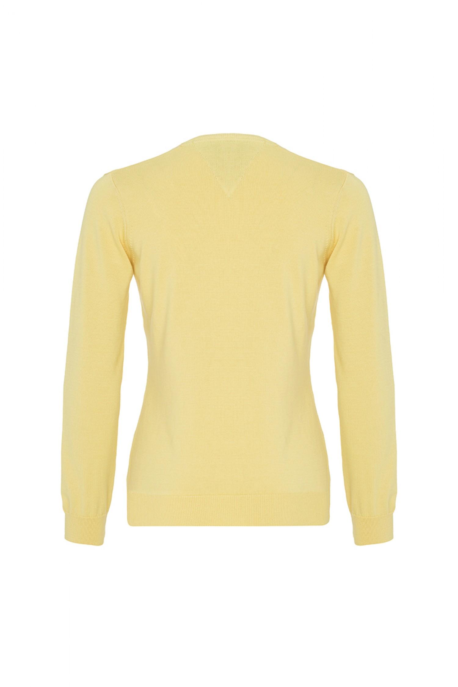 Sonderpreis für neuartiger Stil wähle spätestens Baumwoll Pullover V-Ausschnitt GELB für Damen - Denim Culture