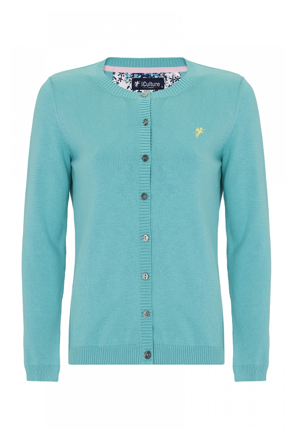 Women's Cardigan Button Crew Neck Mint