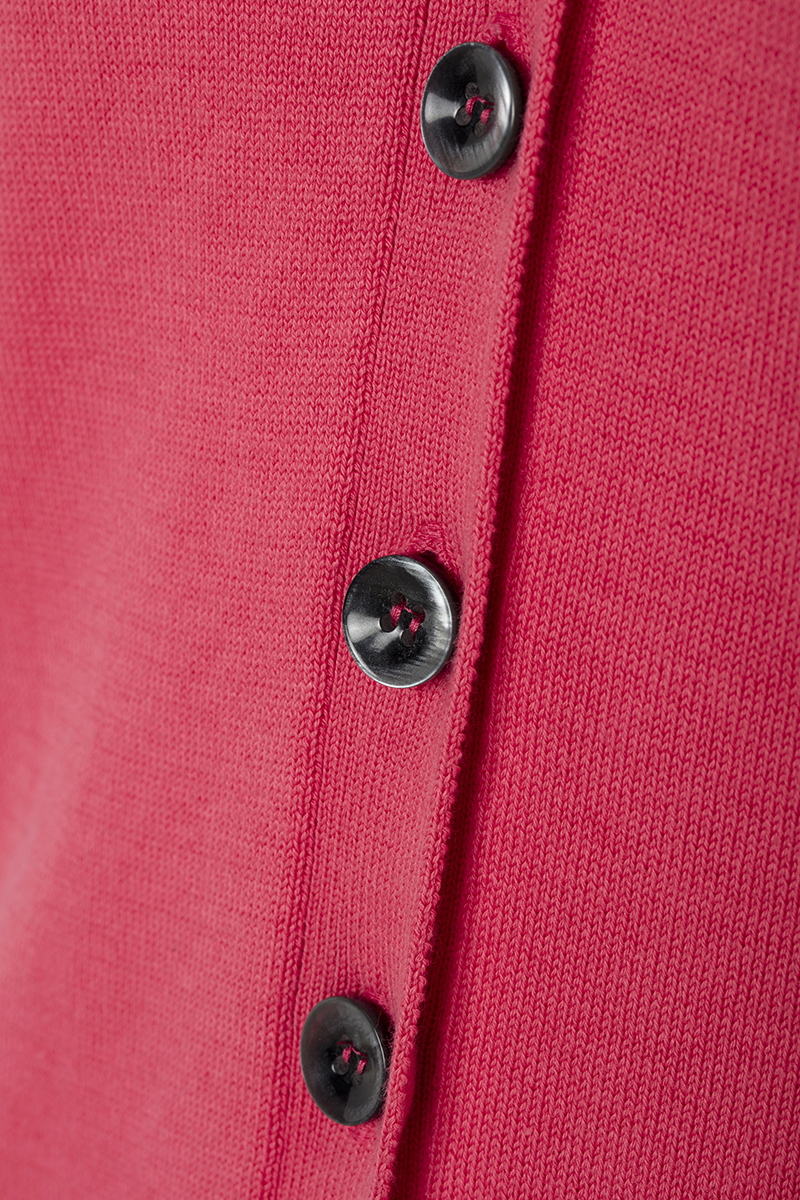 Women's Cardigan Button V-neck Coral