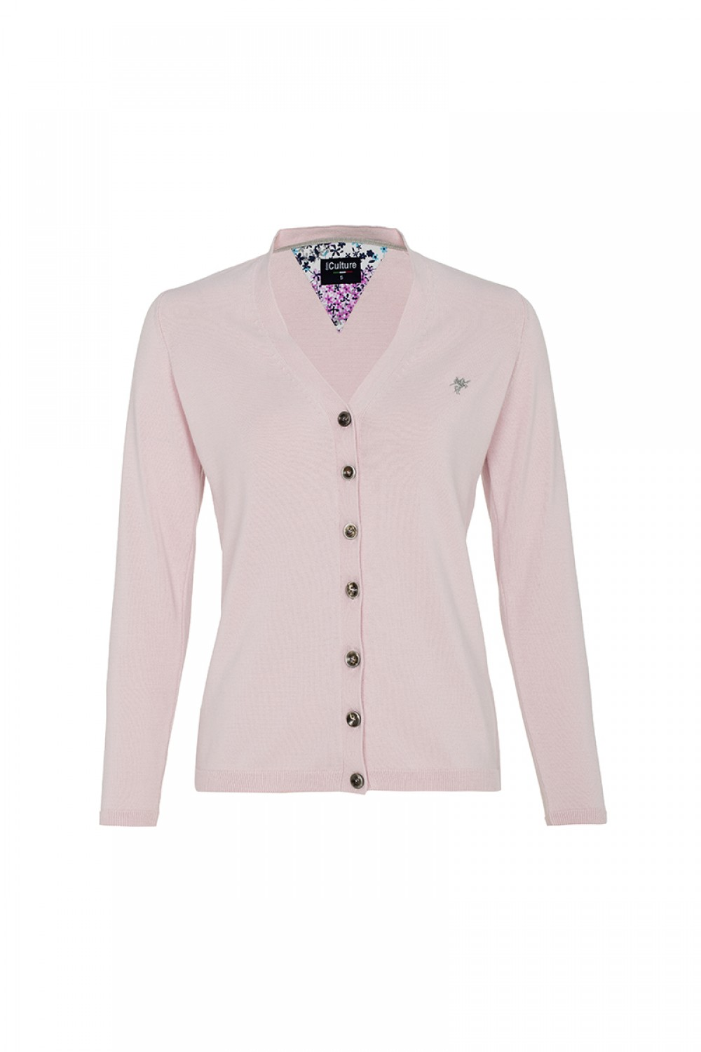 Women's Cardigan Button V-neck Powder