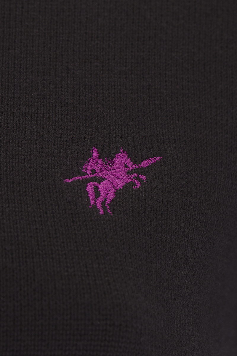 Baumwoll Pullover Rundhals BLACK für Damen
