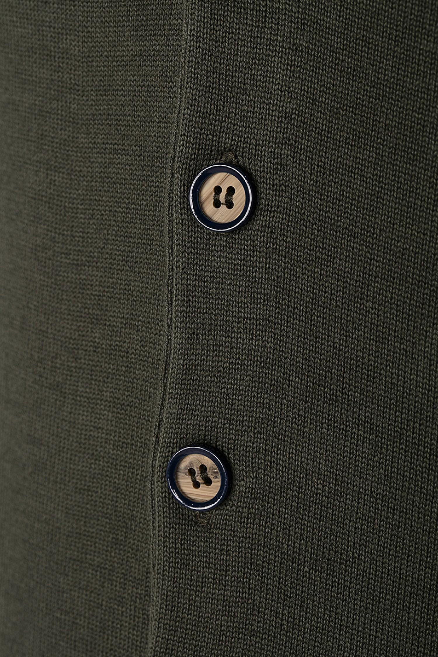 designer fashion c7b4f 70dff Herren Weste Tiefer V-Ausschnitt KHAKI Baumwoll - Denim Culture