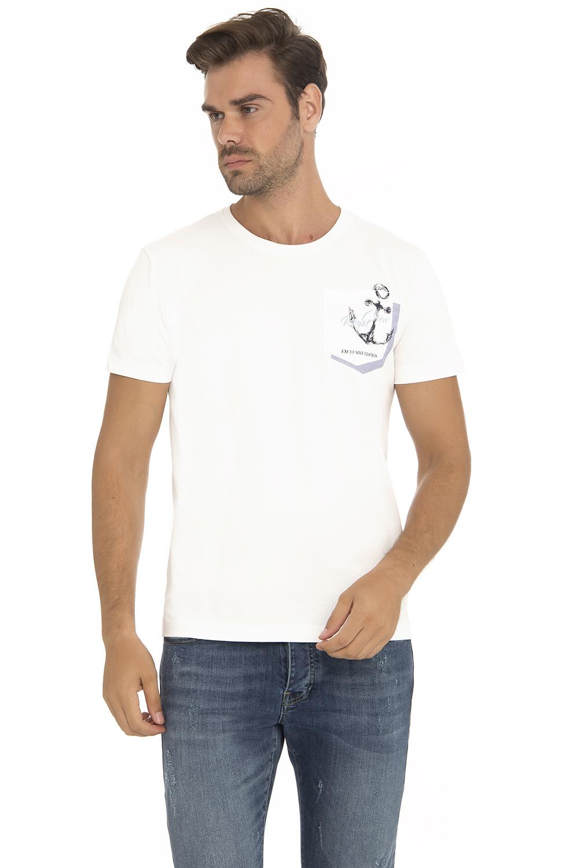 Herren T-Shirt Rundhals ECRU Baumwoll