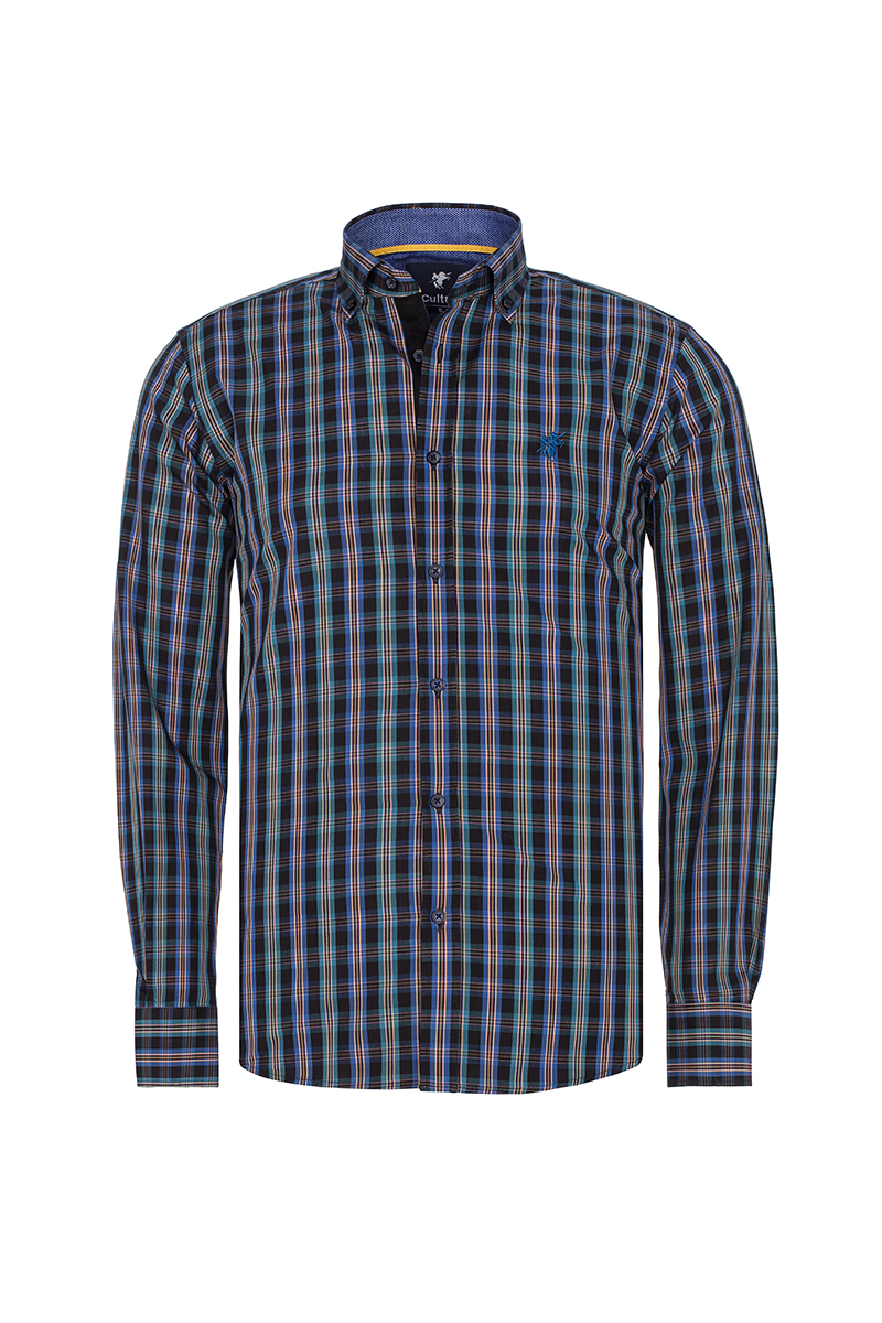 Herren Hemd mit Kariert Button Down ROYAL