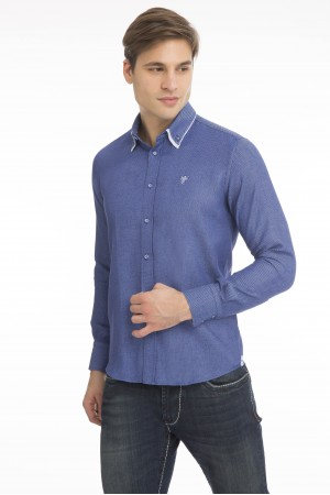 Men's Shirt Double Collar Royal