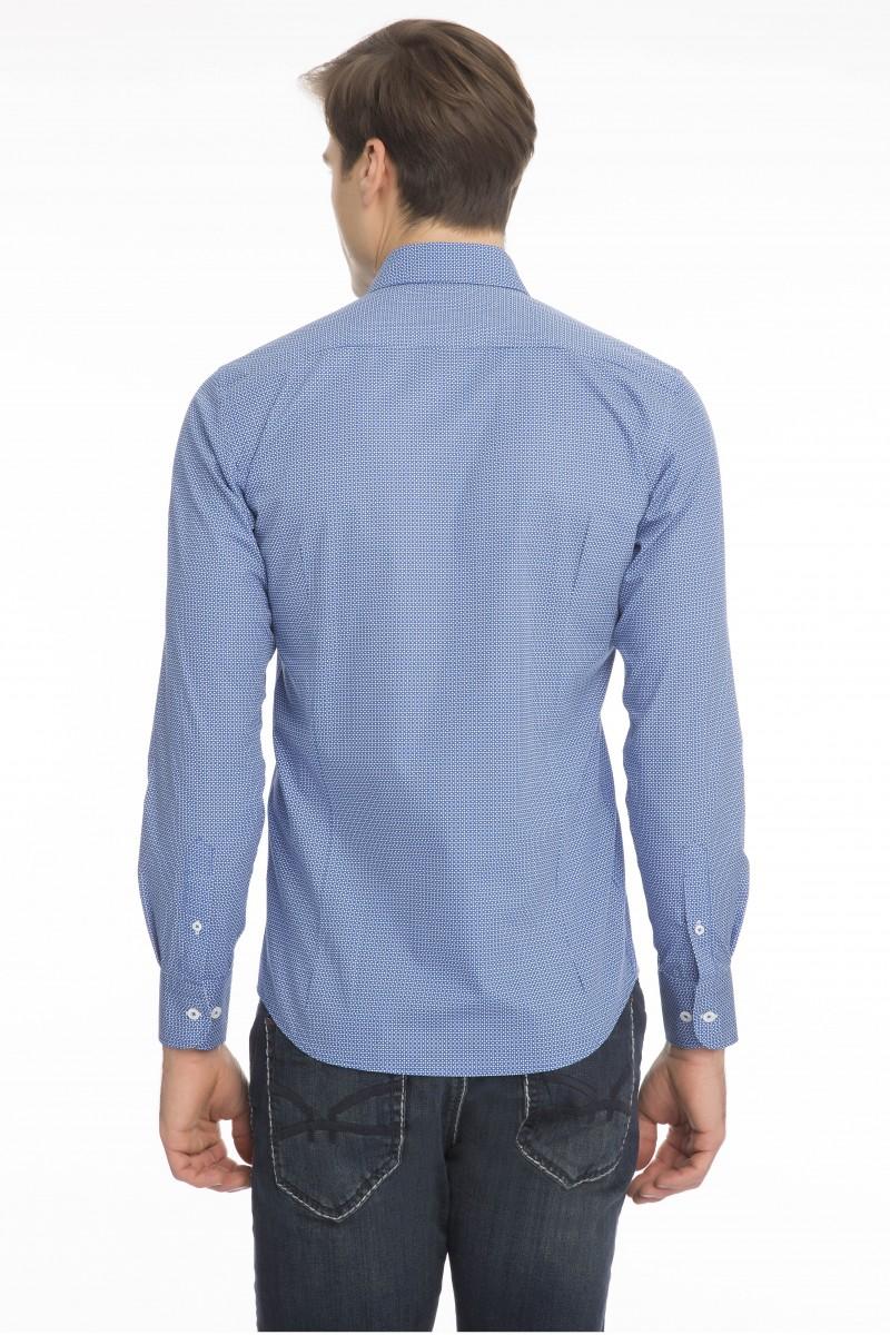 Herren Hemd mit Punktmuster Button Down ROYAL
