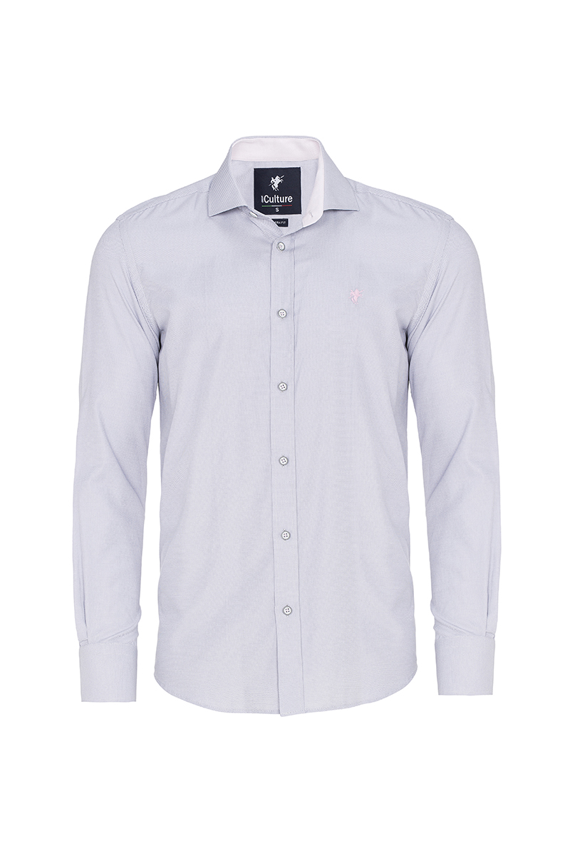 Men's Shirt Kent Collar Grey