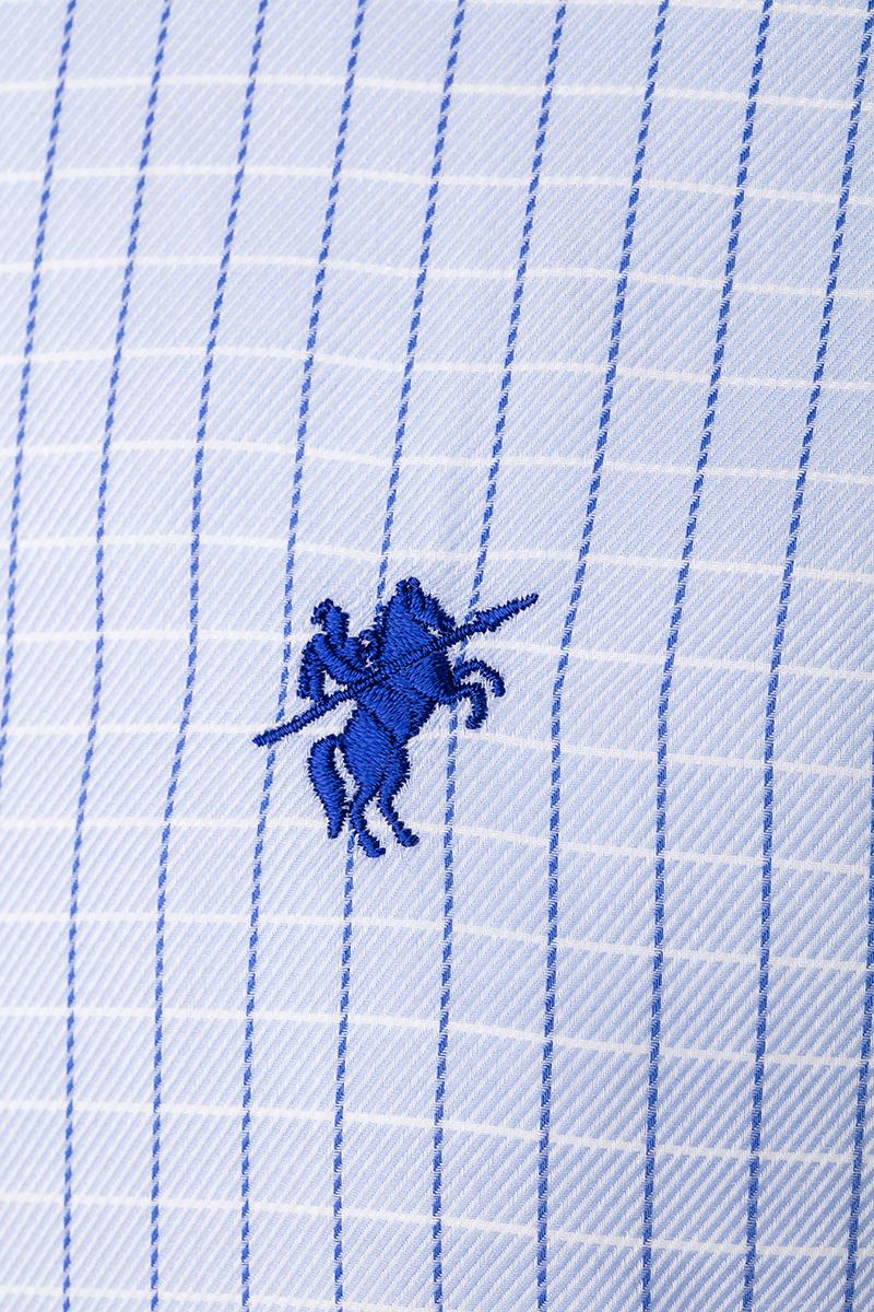 Herren Hemd mit Kariert Kentkragen BLAU