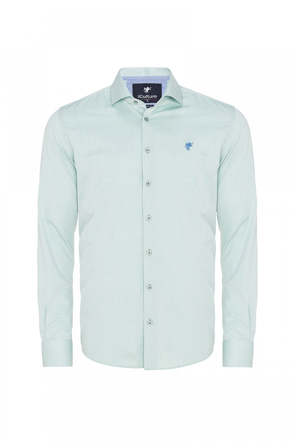 Men's Shirt Kent Collar Green