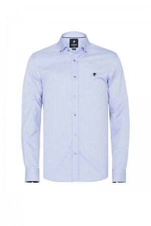 Herren Hemd Fb. blau