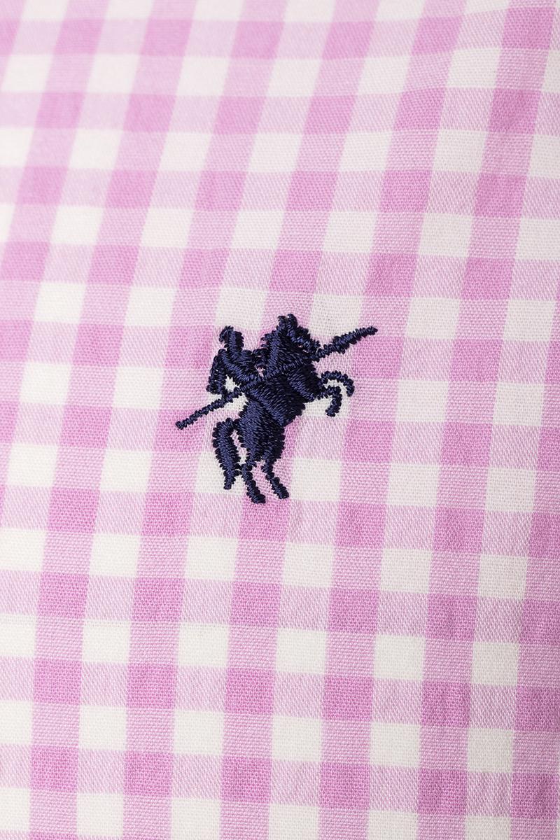 Herren Hemd mit Kariert Kentkragen PINK